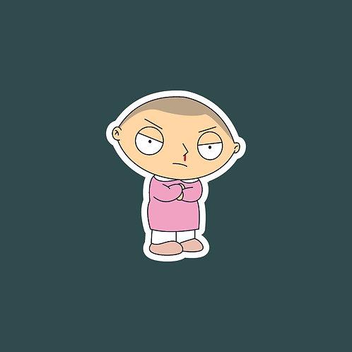 Eleven (Stranger Things) X Family Guy Sticker