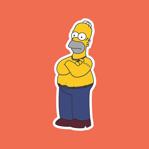 Martin (This Country) X Simpsons Sticker