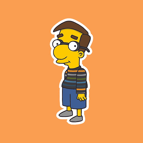 Adam (Friday Night Dinner) X Simpsons Sticker