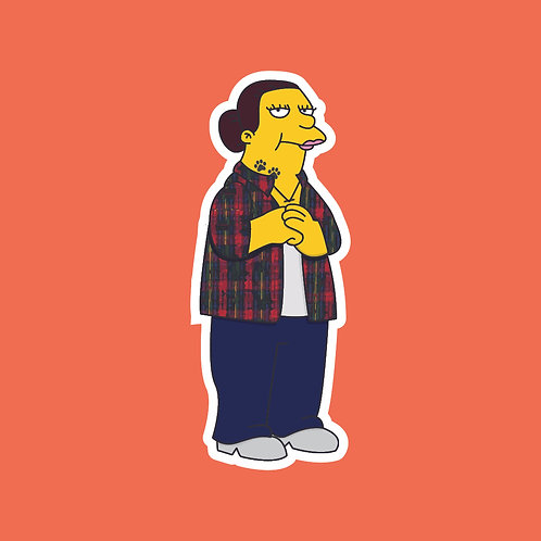 Mandy (This Country) X Simpsons Sticker