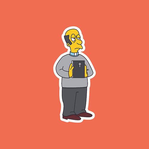 Vicar (This Country) X Simpsons Sticker