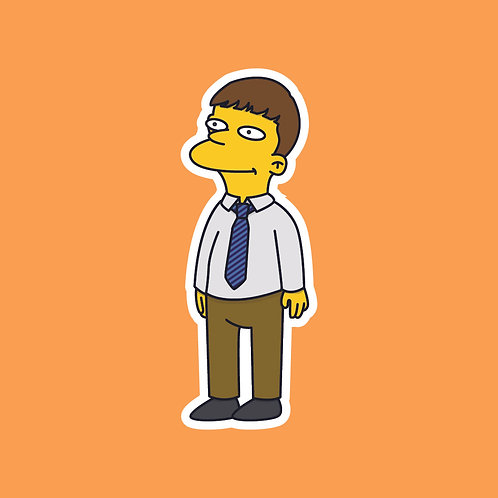 Jonny (Friday Night Dinner) X Simpsons Sticker