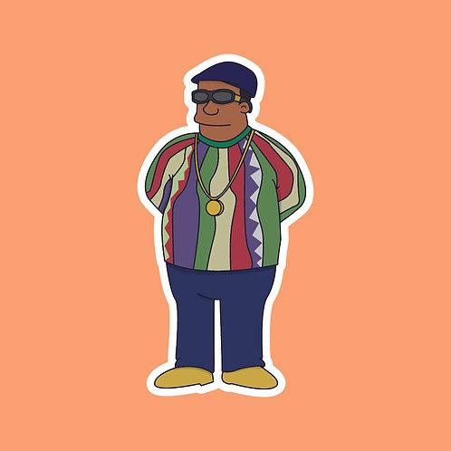Biggie Smalls x Simpsons Sticker