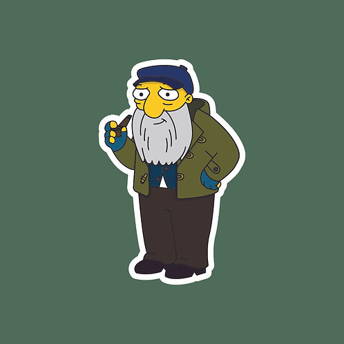 Uncle Albert (Only Fools) X Simpsons Sticker