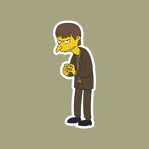 Gareth (The Office) X Simpsons Sticker