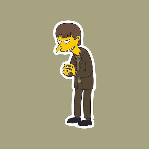 Gareth (The Office) X Simpsons Sticker