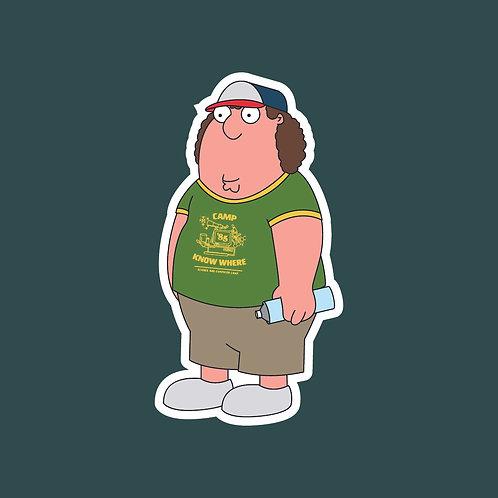 Dustin (Stranger Things) X Family Guy Sticker