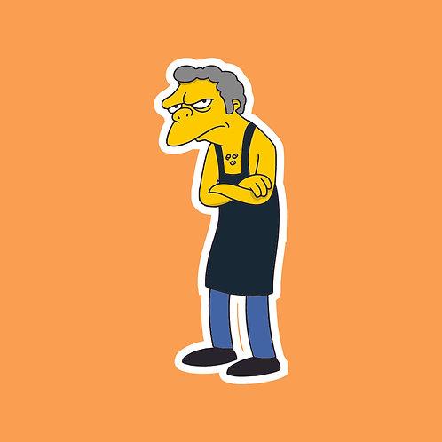 Martin (Friday Night Dinner) X Simpsons Sticker