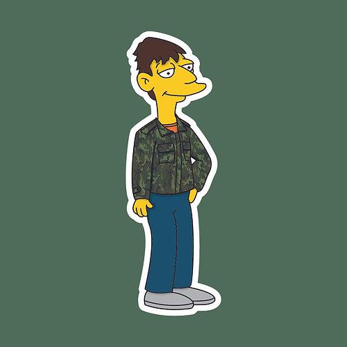 Rodney (Only Fools) X Simpsons Sticker