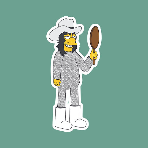 Vince (Mighty Boosh) X Simpons Sticker