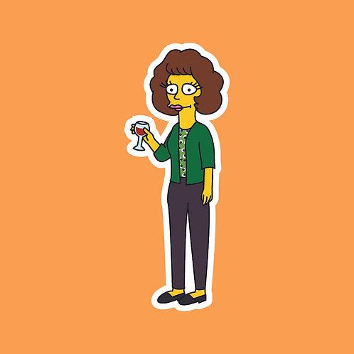 Jackie (Friday Night Dinner) X Simpsons Sticker