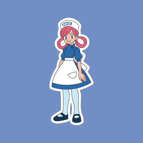 Nurse Joy (Pokemon) NHS Sticker