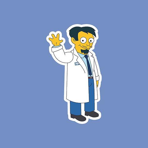 Dr Nick (Simpsons) NHS Sticker