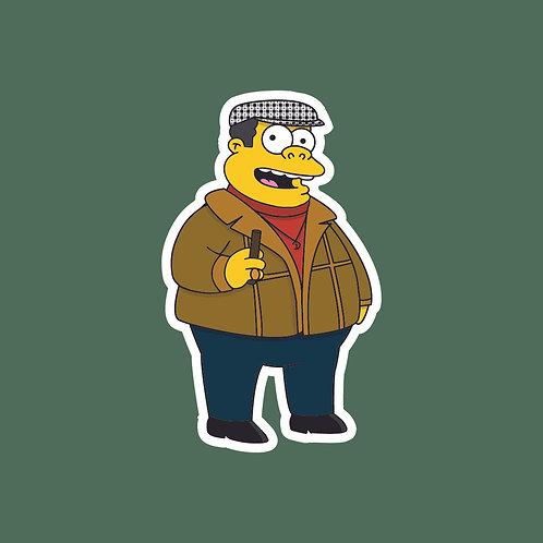 Del Boy (Only Fools) X Simpsons Sticker