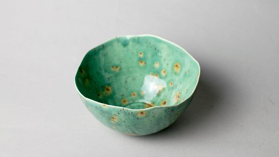 Green and Gold Lotus Bowl (Mini)