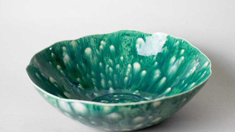"""""""Mossy Green"""" Lotus Bowl"""