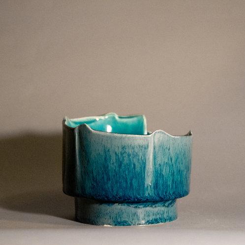 """Aquamarine"" Candle Holders"