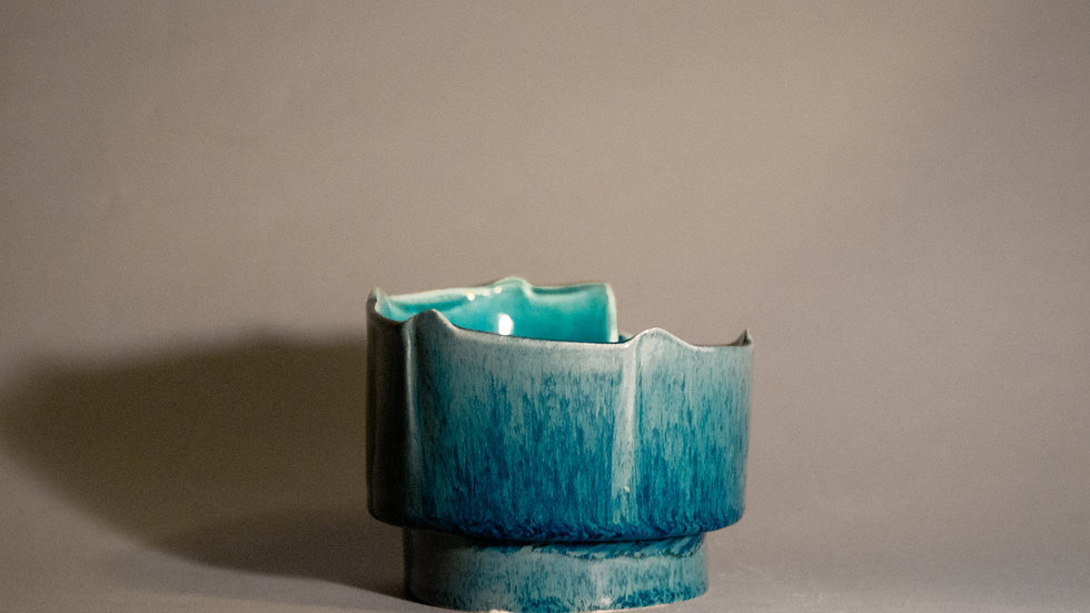 """Aquamarine"" Candle Holders"