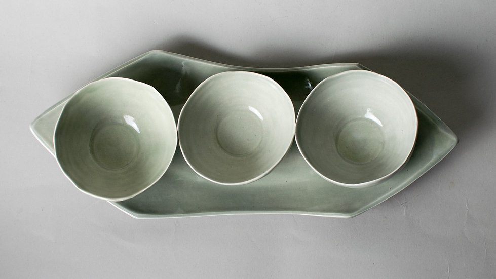 Silver Gray Triplet bowls