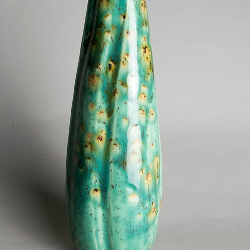 Green and Gold Bud Vase
