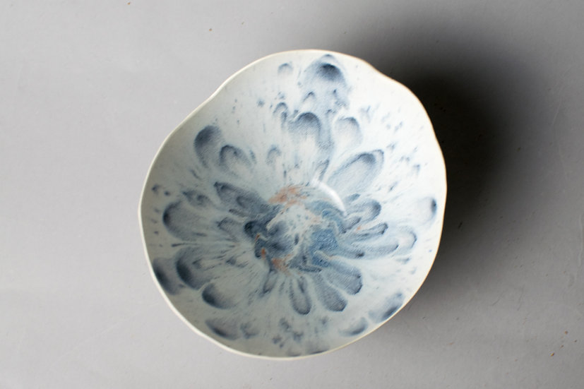 Splash of Gray Mini Lotus Bowl