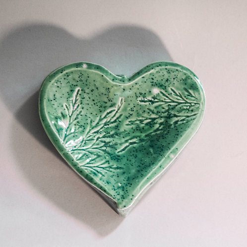 """Forest"" Mini pedestal Heart  Bowl"