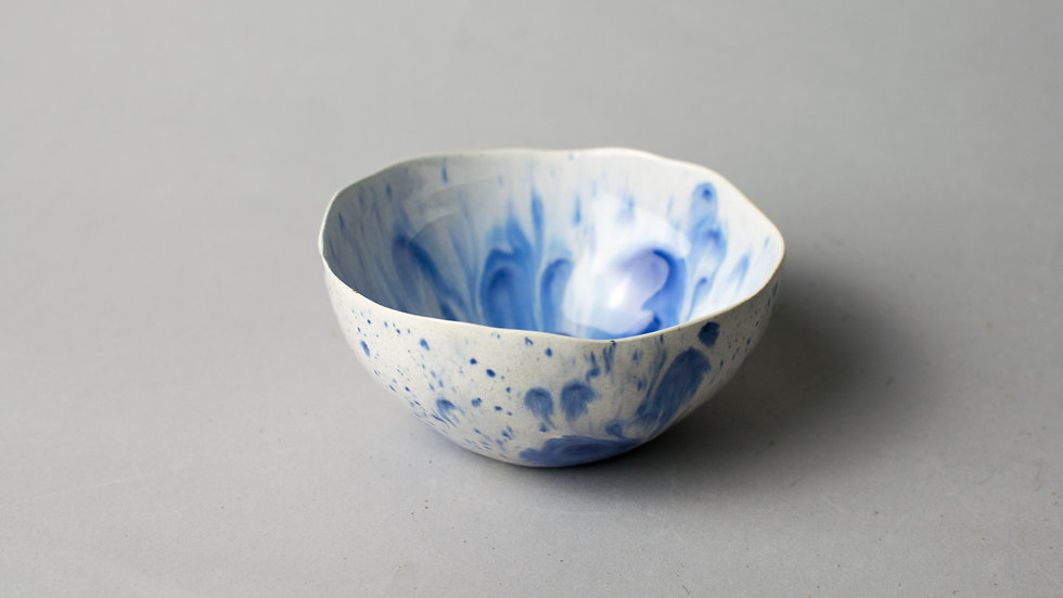 """Blue Blossom"""" Lotus Bowl"""