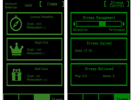 Items and Stress Control Screens
