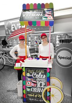 Coles Ice cream stand