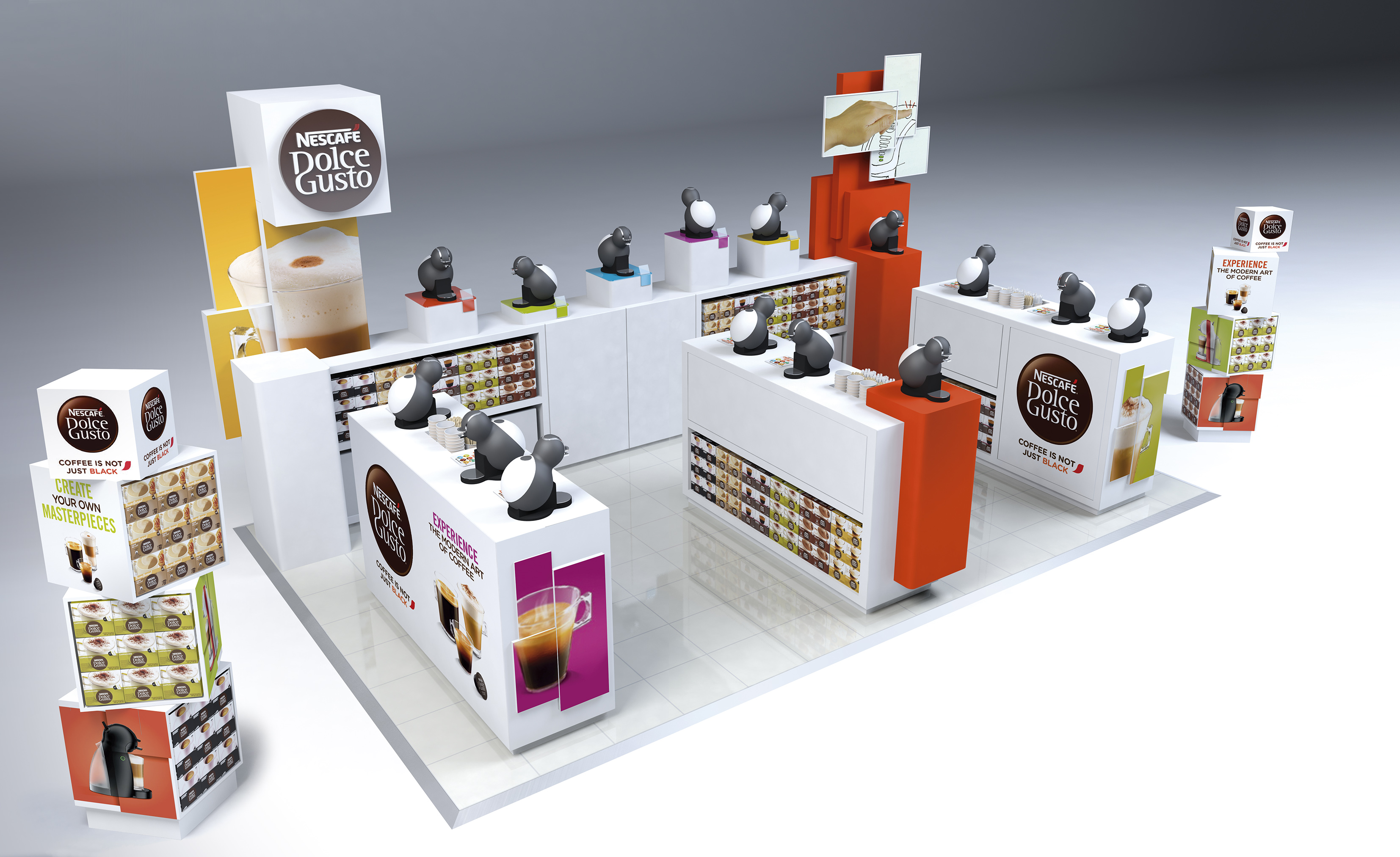 Dolce Gusto Display render