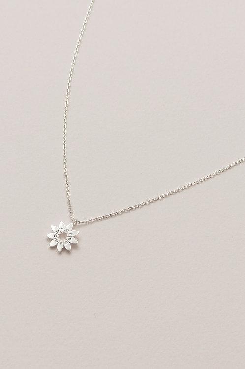 Estella Bartlett Modern Floral Silver Plated Necklace