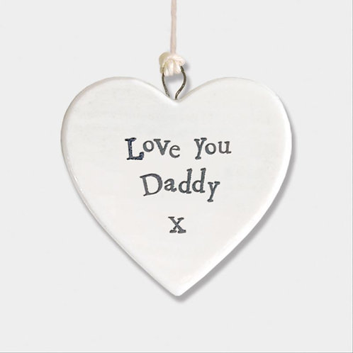East of India Daddy I Love You Heart Decoration