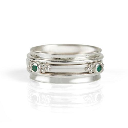 Charlotte's Web Rajalita Love Emerald Spinning Ring