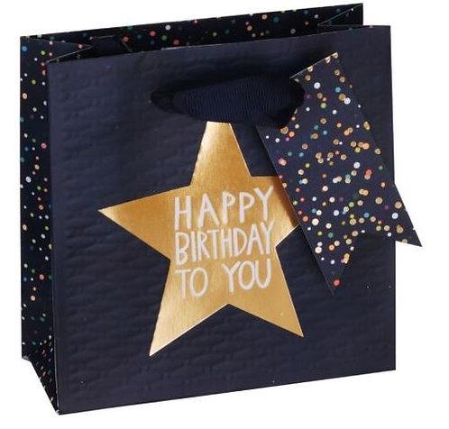 Blue Birthday Star Small Gift Bag