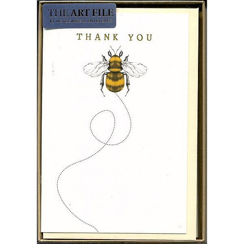 Thank You Cards Bumble Bee 10 Pack