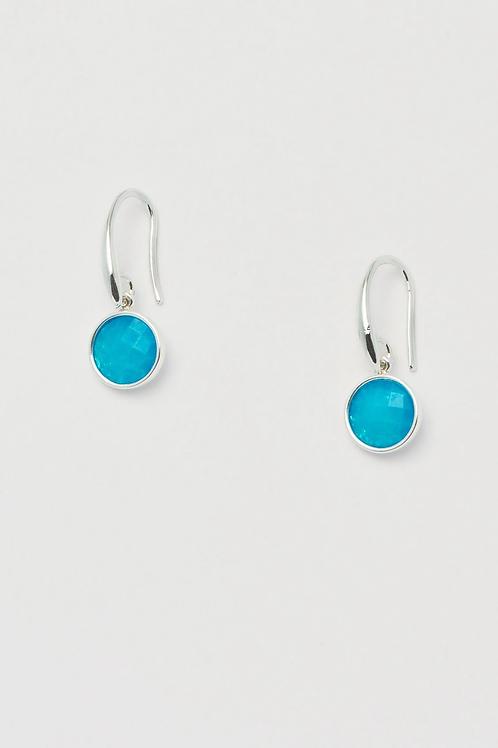 Estella Bartlett Blue Chalcedony Drop Earrings