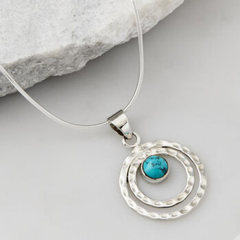 Charlotte's Web Infinity Universe Turquoise Necklace