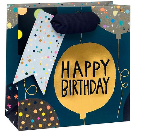 Small Gift Bag Birthday Balloon in Blue