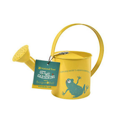 Yellow National trust Watering Can With Frog