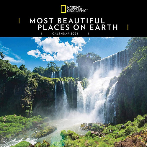 2021 National Geographic Most Beautiful Places Calendar