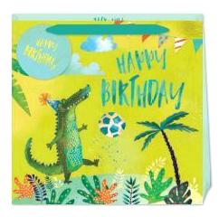 Happy Birthday Crocodile Gift Bag