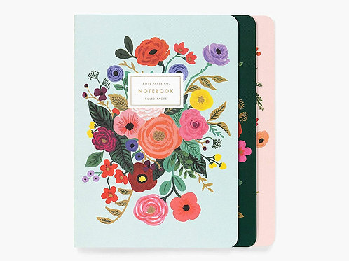 Rifle Paper Co Garden Party Set Of 3 Stitched Notebooks
