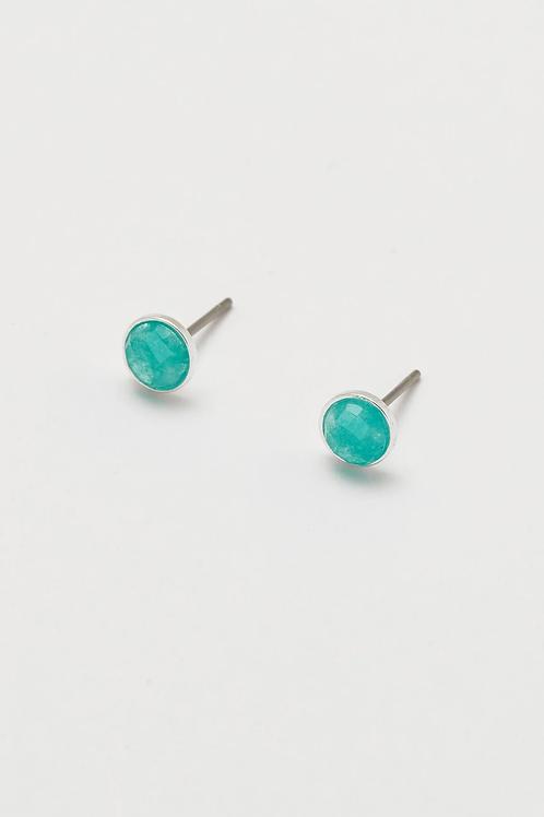 Estella Bartlett Aqua Chalcedony Stud Earrings