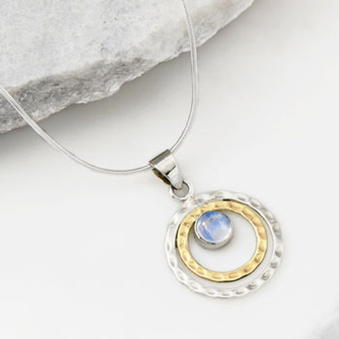 Charlotte's Web Infinity Universe Moonstone Necklace