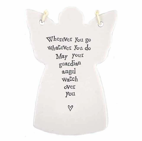 East Of India Wherever You Go Angel Decoration