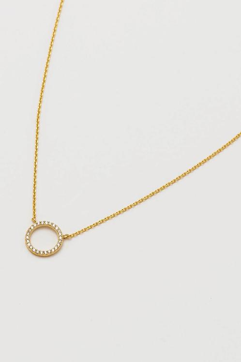 Estella Bartlett Pave Set Circle Necklace