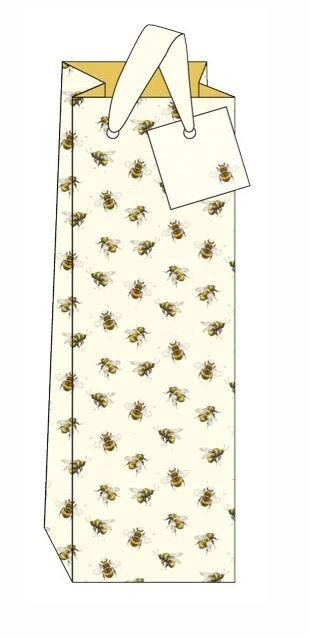 Bottle Bag Bumble Bees Design