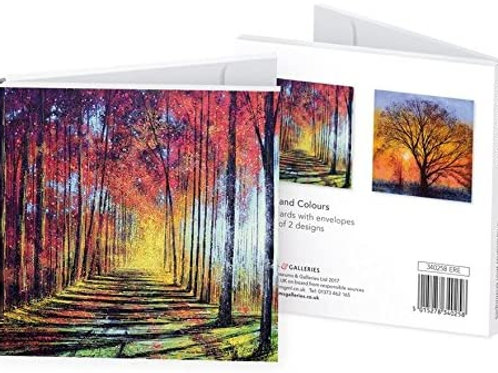 Woodland Colours Cards Pack Of 8