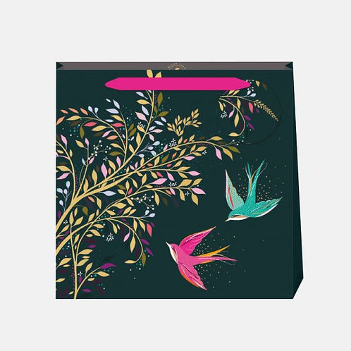 Sara Miller small Hummingbird Grey Gift Bag
