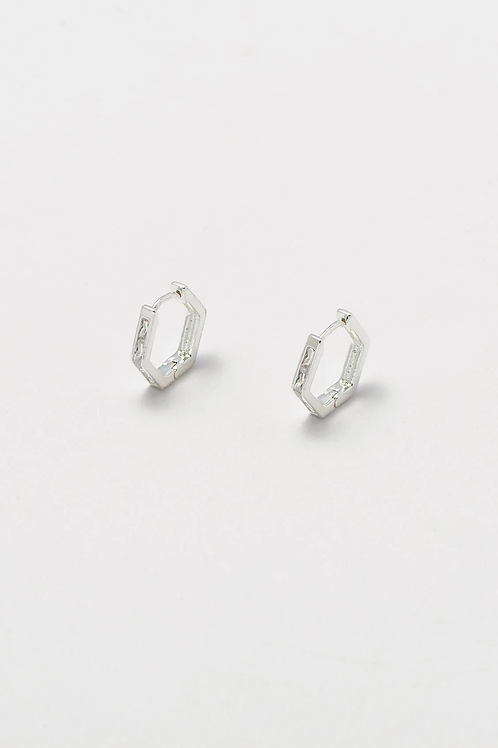 Estella Bartlett Hexagonal Huggie Earrings